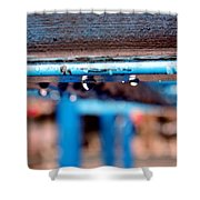 Water Blue  Shower Curtain
