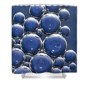 Water Bubbles Shower Curtain