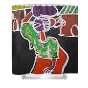 Water Carrier. Shower Curtain