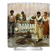 Water Carriers. Venice Shower Curtain