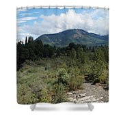 Water-carved Base Rock And Mt Baldy Shower Curtain