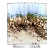 Water Color Sketch  Beach Dune Shower Curtain
