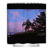 Water Colored Sky Shower Curtain