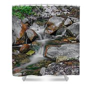 Water Coloured Rocks Shower Curtain