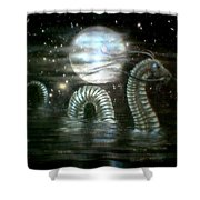Water Dragon And Moon Shower Curtain