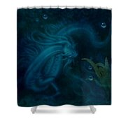 Water Dragon Of The Abyss Shower Curtain