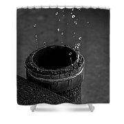 Water Dripping Up The Spout Shower Curtain by Bob Orsillo