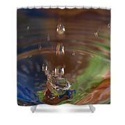 Water Drop Abstract 5 Shower Curtain
