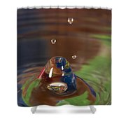 Water Drop Abstract 6 Shower Curtain