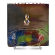 Water Drop Abstract 7 Shower Curtain
