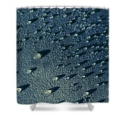 Water Droplets Close-up View  Shower Curtain