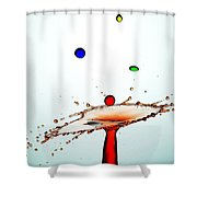 Water Droplets Collision Liquid Art 13 Shower Curtain