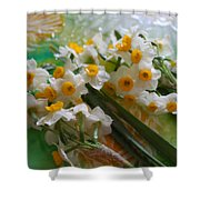 Water Drops On A Bouquet Shower Curtain