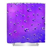 Water Drops On Purple And Blue Shower Curtain