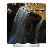 Water Fall At Seven Falls Shower Curtain by Robert D  Brozek