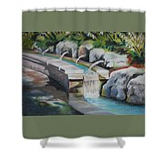 Water Fall In The Gratto Shower Curtain