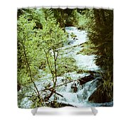 water fall Lolo pass 2 Shower Curtain
