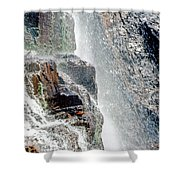 Water Fall Off Mt. Wilson Colorado Shower Curtain