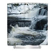 Water Fall On The River Shower Curtain