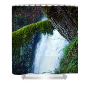 Water Fall Winter Shower Curtain