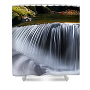 Water Falling Great Smoky Mountains Shower Curtain by Rich Franco