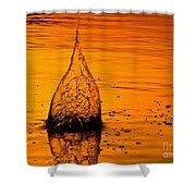Water Fire Shower Curtain
