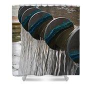Water Fountain Natural Art In Progress Shower Curtain