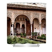 Water Gardens Of The Palace Of Generalife Shower Curtain
