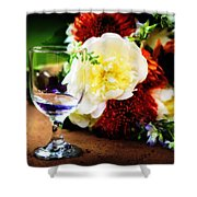 Water Goblet Shower Curtain