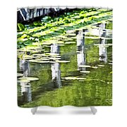 Water Green Shower Curtain