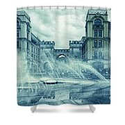 Water In The City Shower Curtain