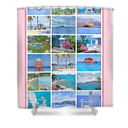 Water Island Poster Shower Curtain