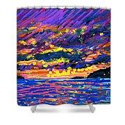 Water Island Sunset Shower Curtain