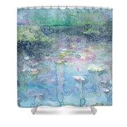 Water Landscape Shower Curtain