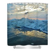 Water Level Surf And Pier 11 10/18 Shower Curtain