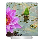 Water Lilies 001 Shower Curtain
