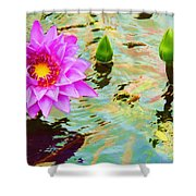 Water Lilies 002 Shower Curtain
