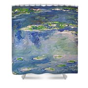 Water Lilies Giverny Shower Curtain