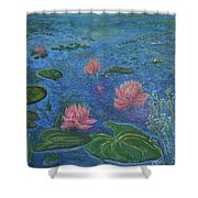 Water Lilies Lounge 2 Shower Curtain