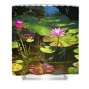 Water Lilly Garden Shower Curtain