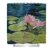 Water Lily In The Morning Shower Curtain