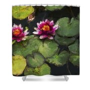 Water Lily Neo Shower Curtain