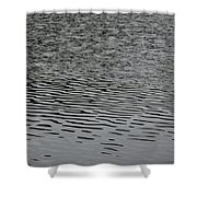 Water Lines Shower Curtain