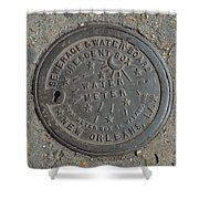 Water Meter 2 Shower Curtain