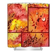 Water On Color Collage Eight Shower Curtain