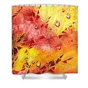 Water On Color Design Nine Shower Curtain