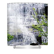 Water Over Rocks At Misty Fjords National Monument-alaska Shower Curtain