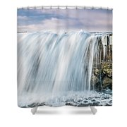 Water Over The Jetty Shower Curtain