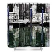 Water Parking Shower Curtain
