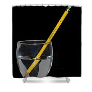 Water Pencil Shower Curtain